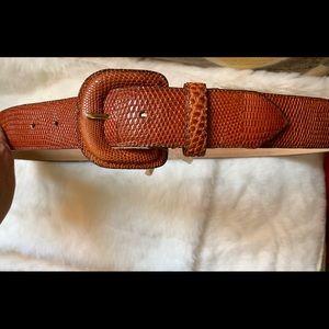 Ellen Tracy Genuine  lizard leather belt